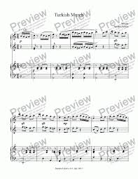 Beginner's level, very easy, and intermediate with free complete audio samples. Turkish March Sheet Music Epic Sheet Music