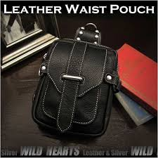 wild hearts men s genuine leather waist pouch hip pouch purse bag belt travel bag wild hearts leather silver id wp1477r57 rakuten global market