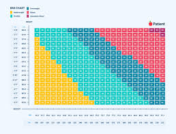 Healthy Bmi Chart Female Bmi For Men And Women Metric
