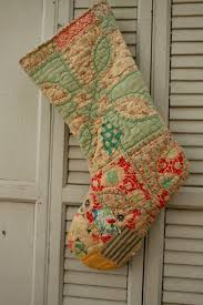 Best 25+ Old quilts ideas on Pinterest | Vintage quilts, Country ... & Large Antique Quilt Stocking Cottage Chic Upcycled Vintage Materials Adamdwight.com