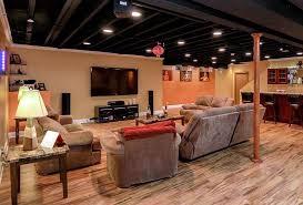 painted basement ceiling ideas. 13 Inspiration Gallery From Exposed Basement Ceiling Ideas Darker Painted I