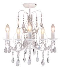 luxury white crystal 5 light ceiling chandelier light lounge bhs sapparia