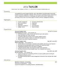 Accounts Payable Manager Resume Interesting Accounts Payable Clerk Resume JmckellCom