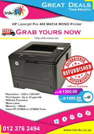 Power consumption, electrical specifications, and acoustic emissions. Hp Laserjet Pro 400 M401a A4 Mono Laser Printer