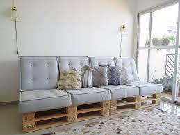 upcycled cushioned pallet sofa