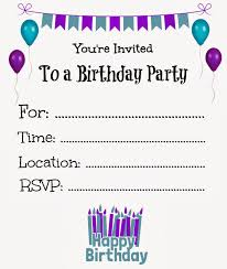 Birthday Invitation Template Printable free printable birthday invitations Free Printable Birthday 1