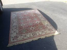 rug marks and spencer large terracotta new zealand wool rug 232cm x 160cm
