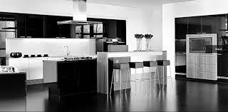 Black And White Modern Kitchen White And Black Color Scheme In Modern Kitchen Design Ideas With