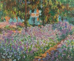 garden at giverny 1900 by claude monet