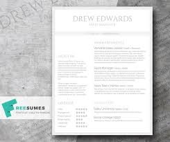 Free Straightforward Resume Design Basic Grey And White Freesumes
