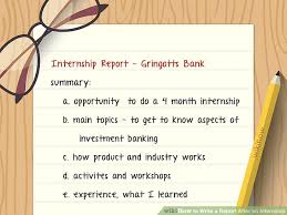 How To Write A Report After An Internship With Pictures