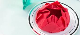 Paper Folded Flower Lotus Flower Origami Folded Dinner Napkins Fun365