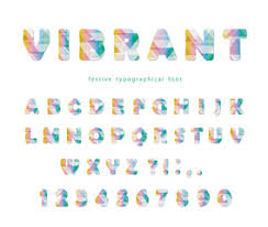 Vibrant Header Modern Vibrant Font Stylized Letters And Numbers In Pastel Colors