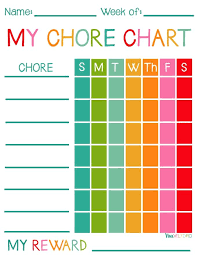 Love These Free Printable Chore Charts For Kids With And