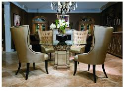 exclusive large round glass top dining table