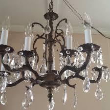 vintage large crystal chandelier french birdcage style design
