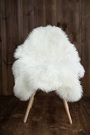 my comfy zone sheepskin faux fur chair cover rug seat pad area rugs