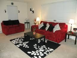appealing red white black living room