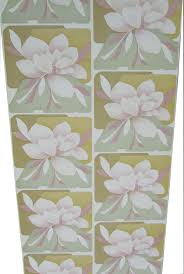 Retro Vintage Magnolia Flowers Wallpaper Green Pink Old Stokc