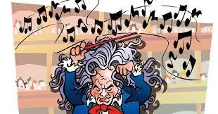 Resultado de imagen de caricatura beethoven
