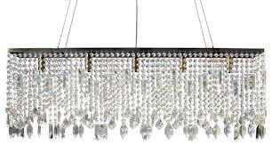 40 sofia glass crystal rectangular chandelier antique brass