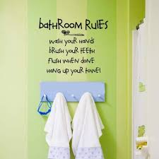 kids bathroom wall decor. Delighful Kids Kids Bathroom Wall Decor BATHROOM RULES Vinyl Lettering  Decal Throughout A