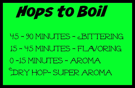 Hop Chart Bearfootbrewer Hops To Boil Time Chart