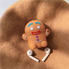 3D Cute <b>Christmas</b> Gingerbread Man Caribou Silicone <b>Headphone</b> ...