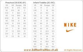 Nike Slippers Size Chart Nike Girls Shoes Size Chart Kulturevulture Co Uk