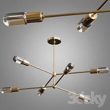 brass reef chandelier lighting