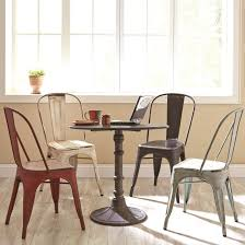 Industrial Kitchen Table Furniture Coaster Oswego Round Industrial Bistro Table Coaster Fine Furniture