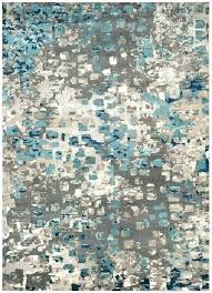 blue and gray area rugs rug grey yellow brown