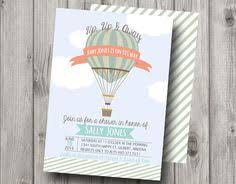 Vintage Inspired Hot Air Balloon Tags  For Party Wishes Vintage Hot Air Balloon Baby Shower