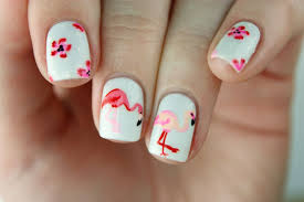 PackAPunchPolish: Flamingo & Floral Nail Art