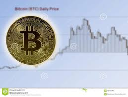 Bitcoin Against Home Made Price Chart Showing Rise And Fall