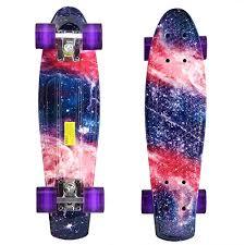 Skateboards Designs Dtemple 22 Inch Mini Cruiser Skateboard Retro Style Complete Skateboards Various Designs Banana Board Suitable For Beginners Best Gift For Kids