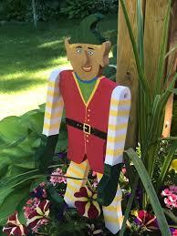 wooden garden gnome