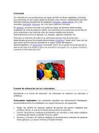 Colorantes Pernitidos Y No Permitidos Informe