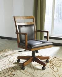 ashley h641 01a lobink collection warm brown finish home office chair brown finish home office