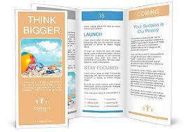 Fun Brochure Templates Fun Day At The Beach With Goggles And Beach Ball Brochure Template