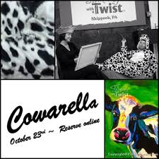 cowarella quite possibly the seziest cow you ll ever paint