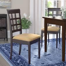 criner back side upholstered dining chair set of 2