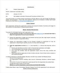 Budget Memo Templates 10 Examples In Word Pdf