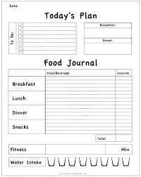 Food Diary Template Hashtag Bg