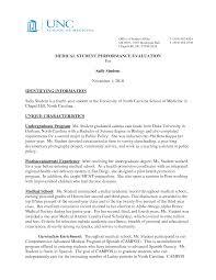 Good Letter Of Recommendation For Medical Residency