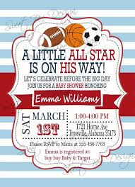 Sports Themed Baby Shower Invites Sports Themed Baby Shower Baby Shower Invitations Sports Theme