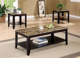 Are you looking for a coffee table for your living room or family room? Black Faux Marble Coffee Table Set Black Wood Coffee Table