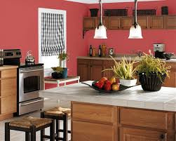 kitchen paint colors with red oak cabinets