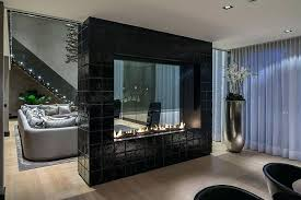 two sided fireplace edgy 4 sided fireplaces gas