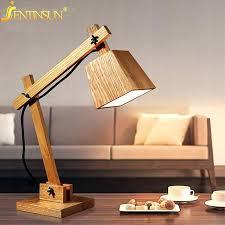 wooden table lamps art decoration desk lamp vintage solid wood table lamps study light bedside wooden wooden table lamps